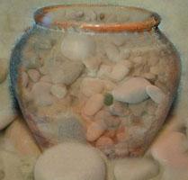 Сосуд жизни. Камни большие и малые песок. Фото Логинова Ольга